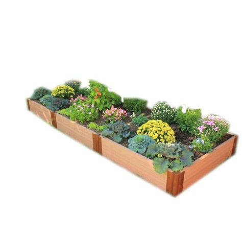 Frame It All Raised Garden Bed Kit Frame It All Two Inch Series 4 Ft X 12 Ft X 11 In Composite Raised Garden Bed Kit 300001075