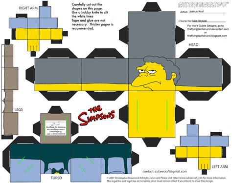 Simpsons Papercraft - simpsons4 moe szyslak cubee by theflyingdachshund on