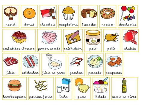 imagenes de comidas en ingles y español comida learning spanish pinterest
