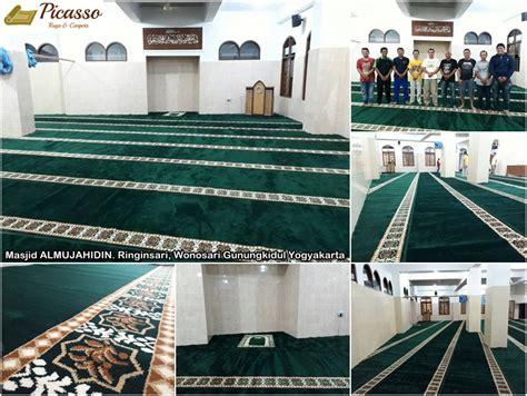 Karpet Masjid Yogyakarta masjid al mujahidin ringinsari wonosari gunungkidul