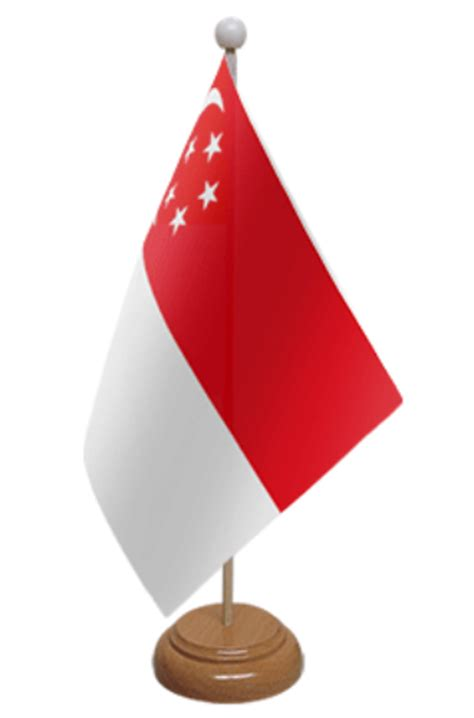 desk flag stand singapore desk table flag with wooden stand and base