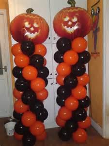 Halloween Balloon Decor Classic Example Of A Halloween Balloon Column In Typical