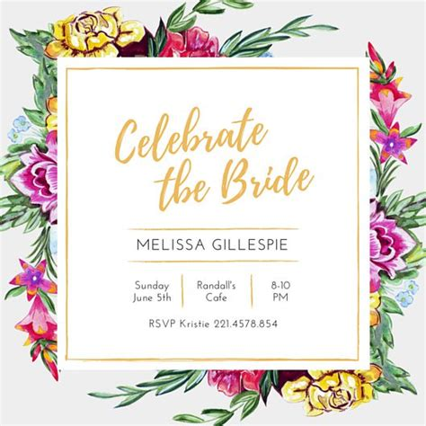 customize 136 bridal shower invitation templates online