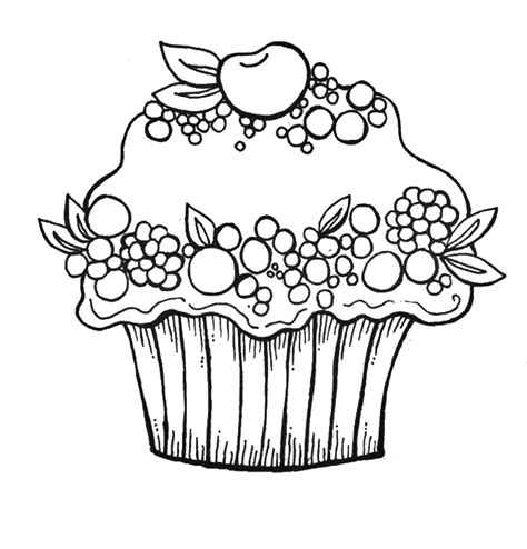 coloring pages cupcakes az coloring pages