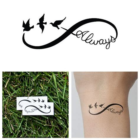 name tattoo temporary infinity always temporary tattoo set of 2 by tattify on