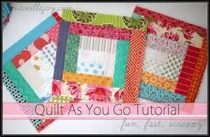quilt as you go tutorial scrappy log cabin quilt as you go qayg quilt