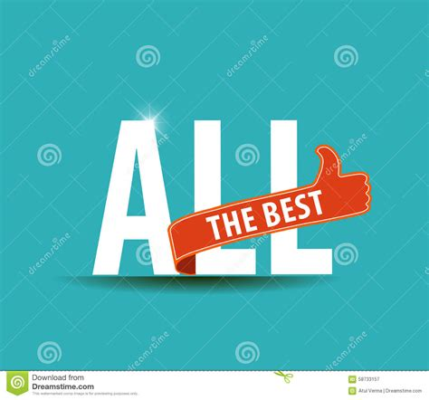 best to this all the best motivational graphic for best wishes stock