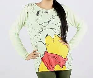 Kaos Winnie The Pooh Wn 01 kaos winnie the pooh model terbaru jual murah import kerja