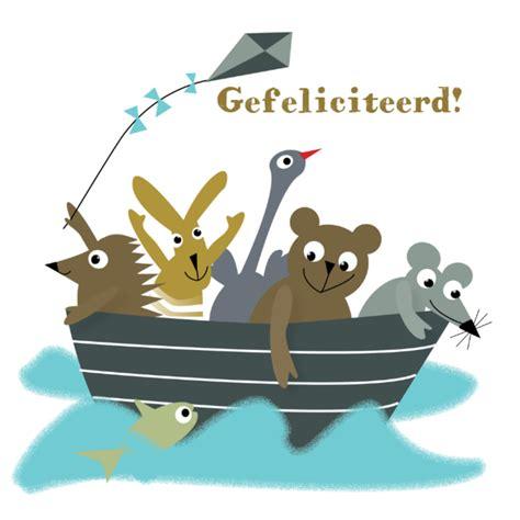 bootje plezier dierenbos boot verjaardagskaarten kaartje2go