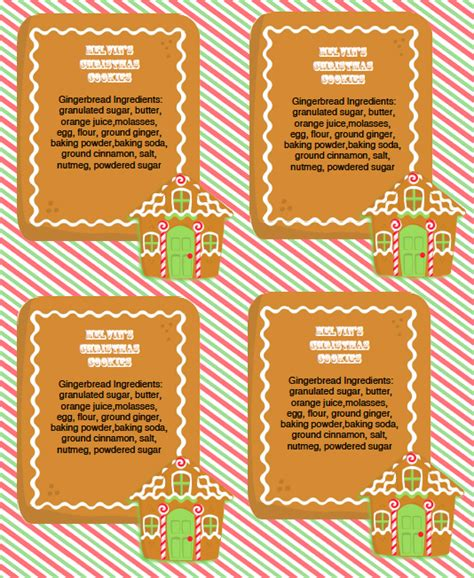 gingerbread party kit and labels worldlabel blog