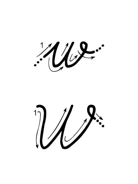 alfabeto italiano in corsivo maiuscolo e minuscolo con lettere straniere lettere e numeri lettera w con indicazioni movimento