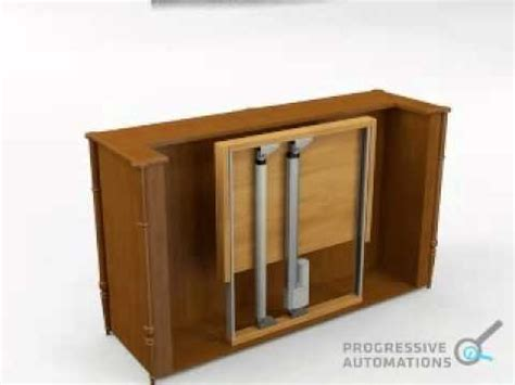 tv cabinet with lift system projects tv lift using linear actuators progressive