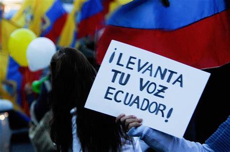 ecuador derechos humanos informes correa oposicion o censura a los medios de comunicacion y