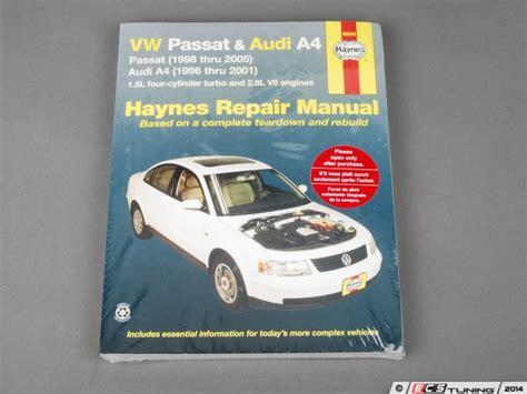free car repair manuals 2000 volkswagen passat security system ecs news vw b5 passat haynes repair manual