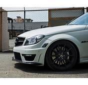 Mode Carbon Front Lip BLK Mercedes C63 W204 Coupe 12 14