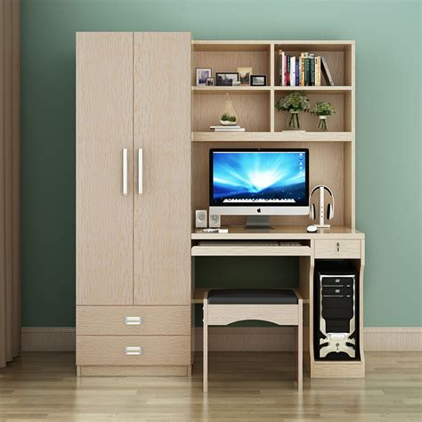 Wardrobe With Desk by Table Desktop Home Computer Desk Combination Bookcase