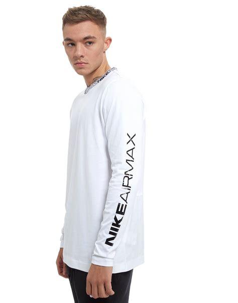 Tshirt Nike Air Max lyst nike air max sleeve jacquard t shirt in white for