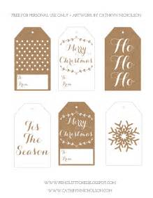 Pencil stitches free printable christmas gift tags