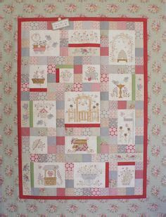 Patchwork Teahouse - green farm quilt pattern by liz stanway of