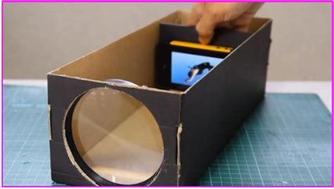 cara membuat rak mini dari kardus dan ukurannya inilah cara mmbuat proyektor ponsel dari kardus bekas