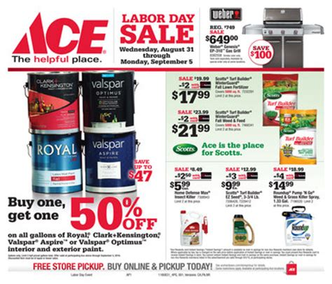 labor day sale rockford ace hardware