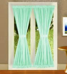 Green Swag Curtains Solid Mint Green Colored Swag Window Valance Optional