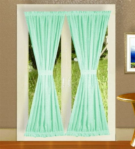 mint green curtain panels mint green french door curtains