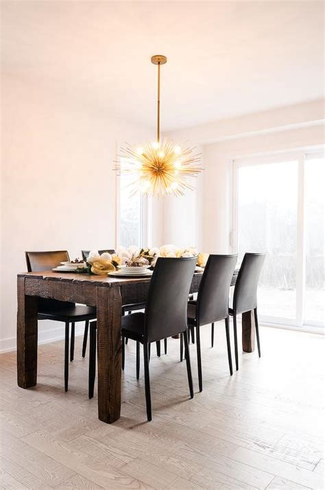 brass dining room chandelier brass sea urchin chandelier in dining room contemporary dining room