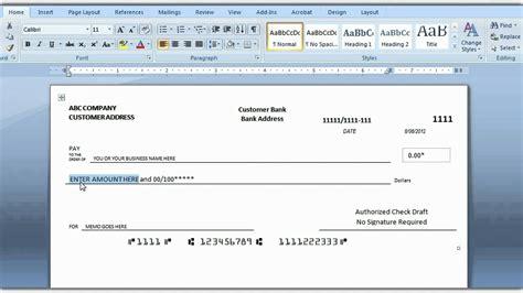 print check template how to print a check draft template for business check template excel business check