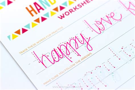 hand lettering tutorial worksheet free valentine brush lettering practice sheet printable