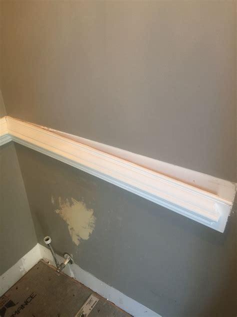 remove chair rail faux shiplap bathroom saved by scottie