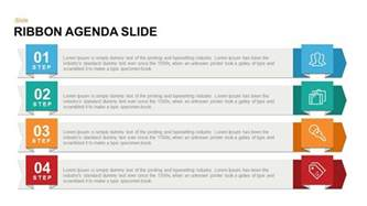 ribbon agenda slide powerpoint and keynote template