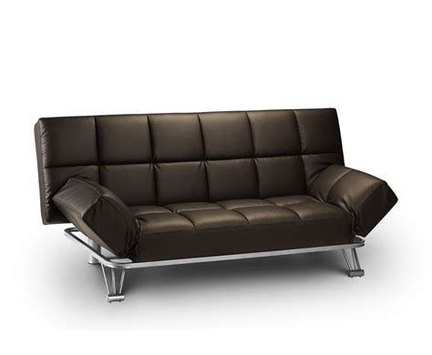 sofa bed france manhattan brown faux leather clic clac sofa bed