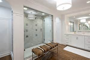 dusche zu zweit walk through showers transitional bathroom