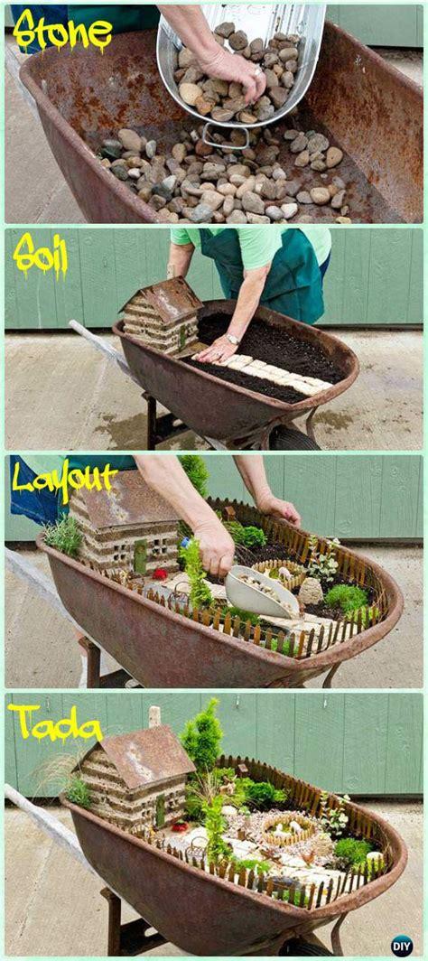 miniature diy projects diy wheelbarrow garden projects gardening