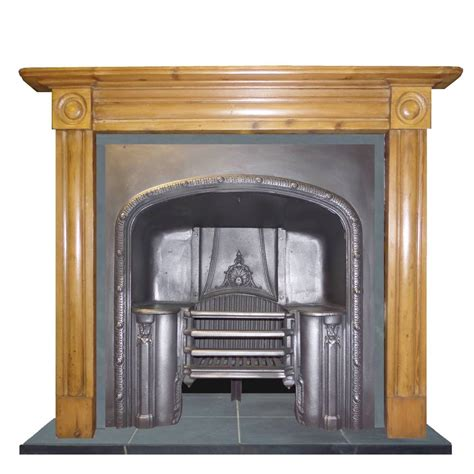 Antique Wooden Fireplace Surrounds by Antique Georgian Pine Wood Mantel Fireplace Surround