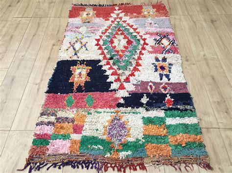 tapis rug east unique vintage moroccan rug tapis berbere boucherouite 170x104cm a 053
