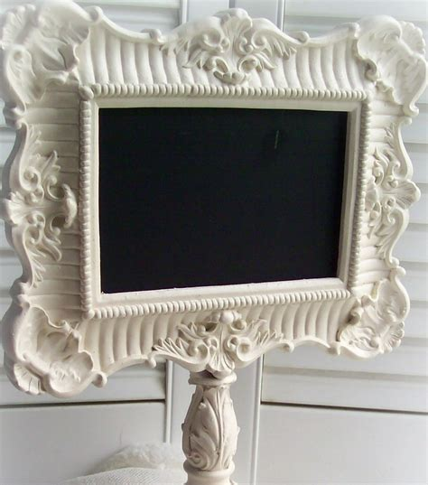 chalkboard frame ornate pedestal style frame shabby chic