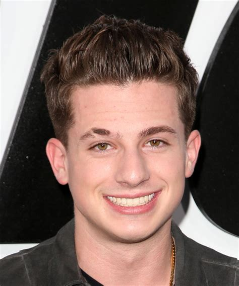 Charlie Puth Short Straight Casual Hairstyle   Medium Brunette