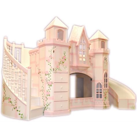castle bunk beds vicarello castle bed w curved slide staircase
