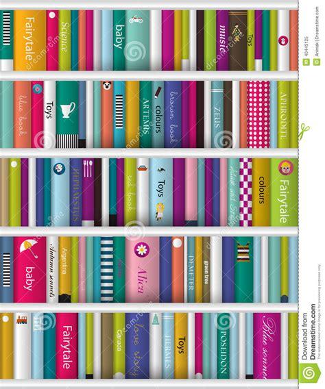 Childrens Wall Bookcase Children Book Shelf Stock Vector Image 40443125
