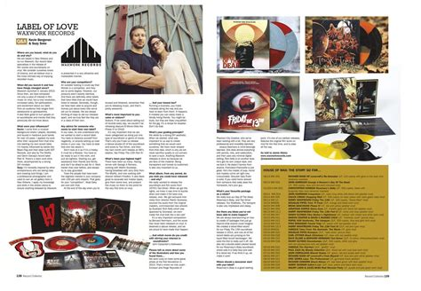 interview section record collector magazine interview waxwork records