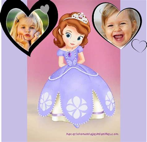 imagenes para decorar cumpleaños de la princesa sofia decorar fotos con la princesita sofia fotomontajes