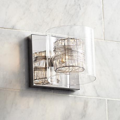 possini euro design wrapped wire 56 wide bathroom light possini euro design wrapped wire 5 quot high 1 light wall