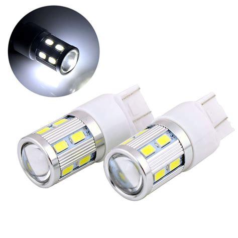 Lu Senja Led Projector T10 5630 5730 10 Mata 12v 5w Warna Putih 1 2x t20 7443 w21 5w 13 smd 5630 5730 led lens projector aluminum car brake lights motor