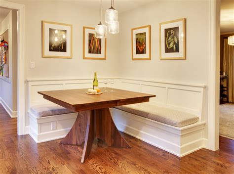 built in bench in kitchen mercer island dining table w built in benches