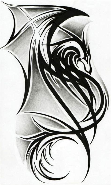 simple tribal dragon tattoo best 25 tribal tattoos ideas on