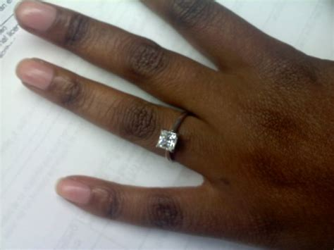 engagement ring images on finger for black finger did you go and get a manicure as soon as the ring was on