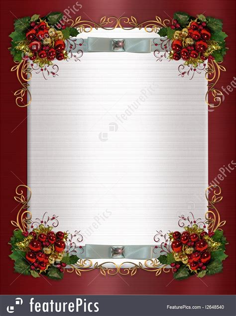 templates christmas  winter wedding border stock
