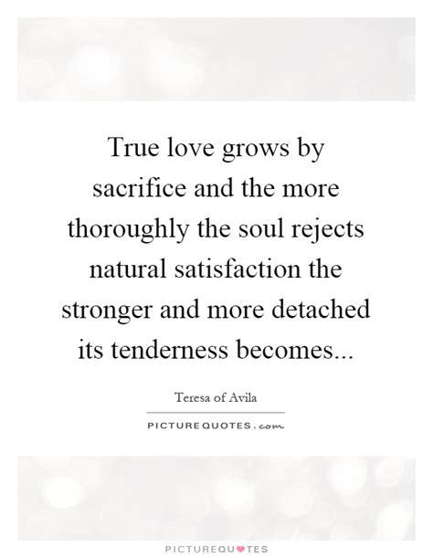 true love grows  sacrifice      soul picture quotes